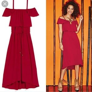 Lady In Red Shoulder Dress. NEW!